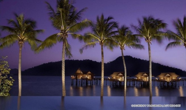 Decided against Pangkor Laut Resort's Sea Villas? No worries, you can see them from the infinity pool at Royal Bay Beach Club.
