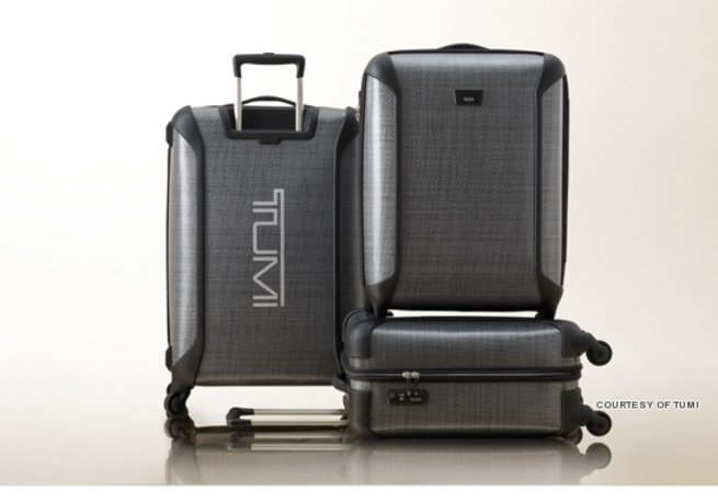 The Tumi TEGRA-LITE Collection has cases of different sizes.