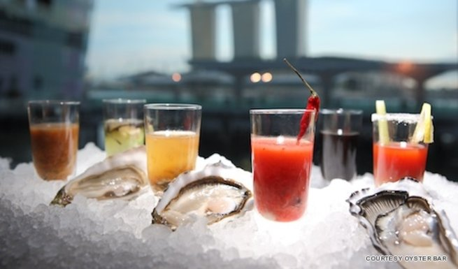 There's more than just fresh oysters at Oyster Bar, the CBD's most sleek hangout spot of the bankers and lawyers of Raffles Place.