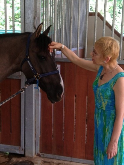 It's not just cats and dogs -- Rosina talks to all types of animals including horses and rabbits.